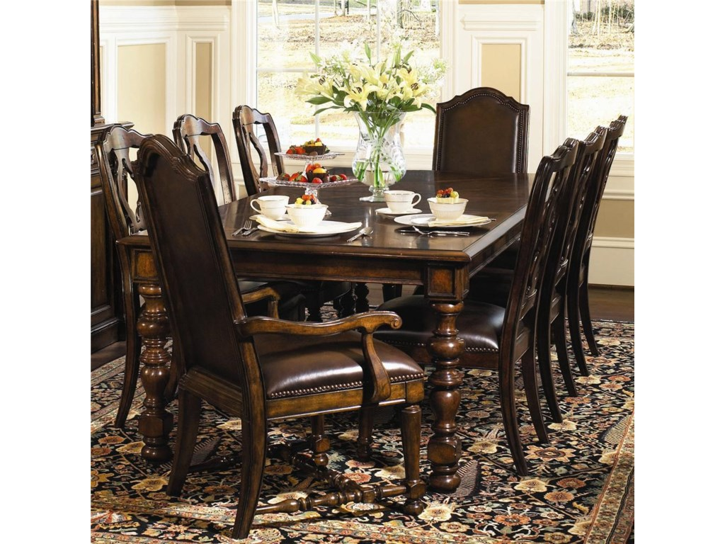 Shown With Side Chairs and Upholstered Arm Chairs