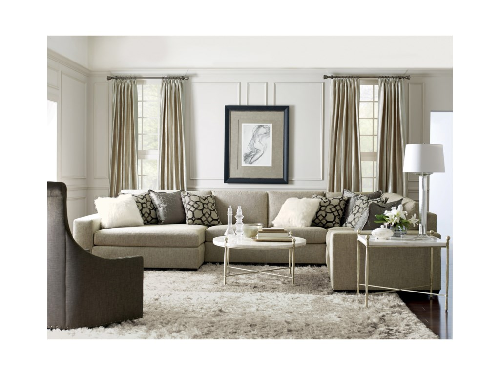 Bernhardt Orlando Sectional Sofa with Left-Facing Chise ...