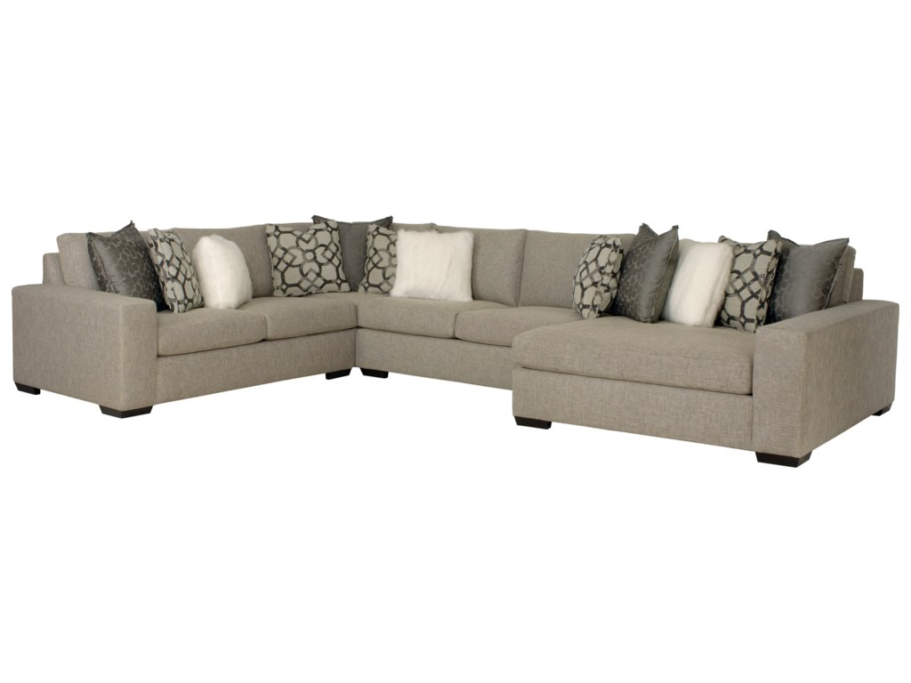Bernhardt Orlando Sectional Sofa with Right-Facing Chaise ...