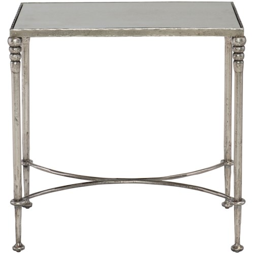 Bernhardt Orleans Rectangular End Table with Antiqued Mirror Top