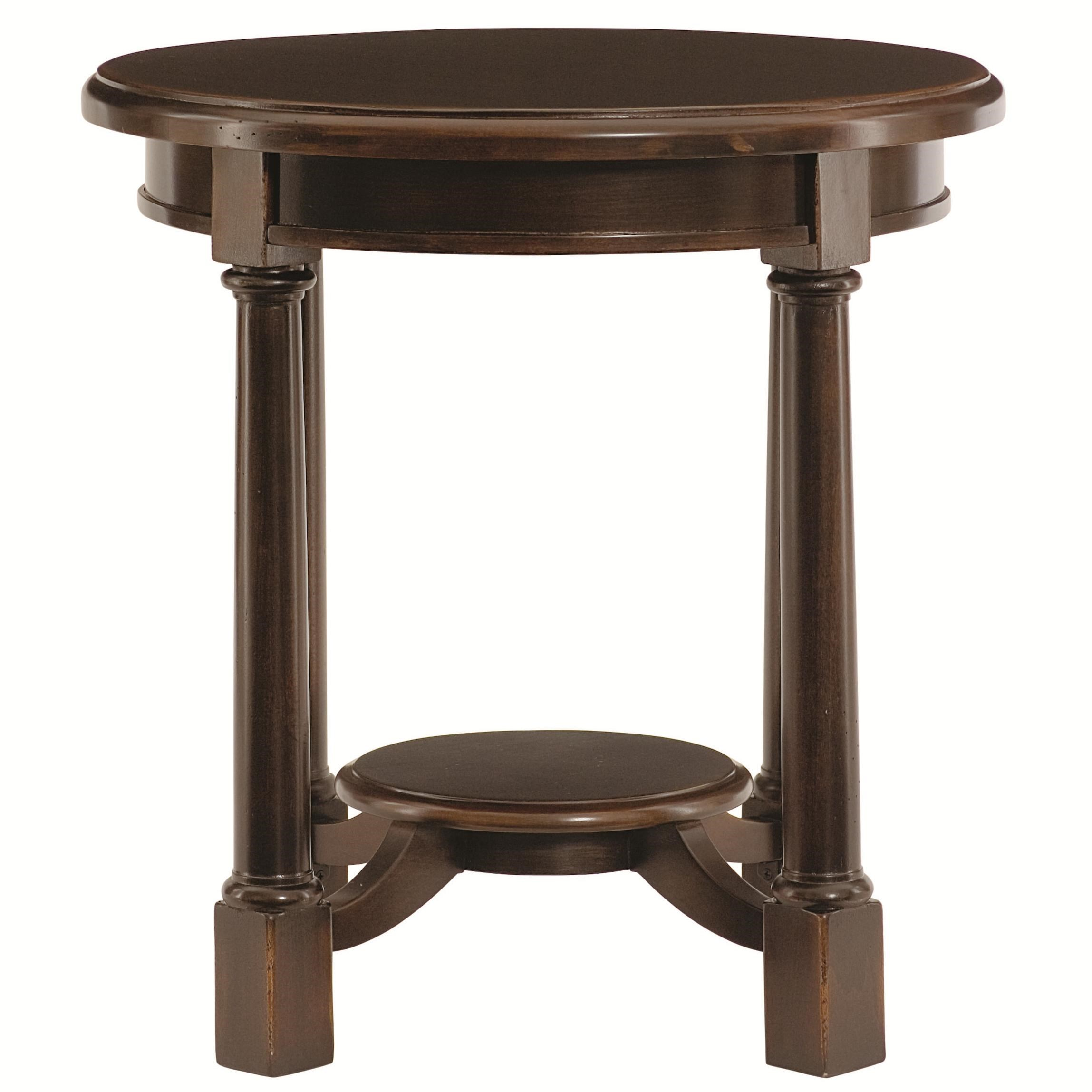 Beau Bernhardt Pacific Canyon Round Side Table With Shelf