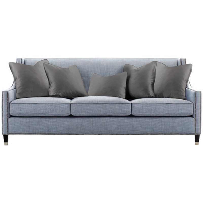 Bernhardt Palisades Transitional Sofa With Nailhead Trim