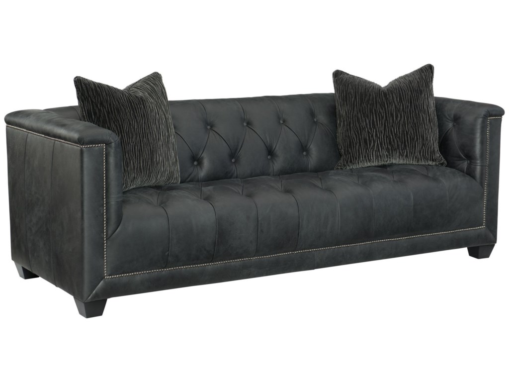 Bernhardt Paxton 3817l Transitional Tufted Sofa With Nailheads