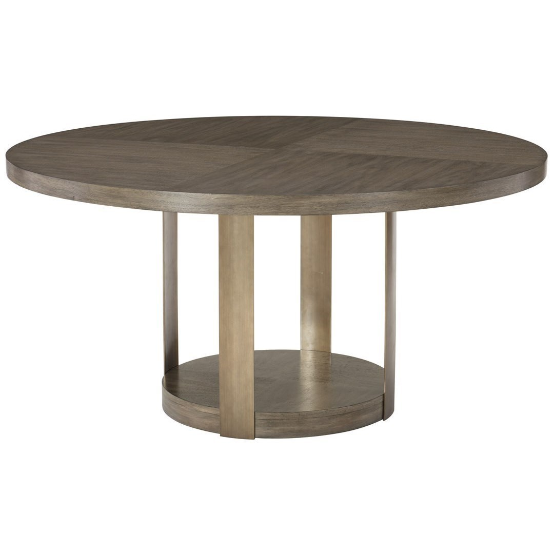 Bernhardt Profile 378 272, 378 274 Round Wooden Dining Table ...