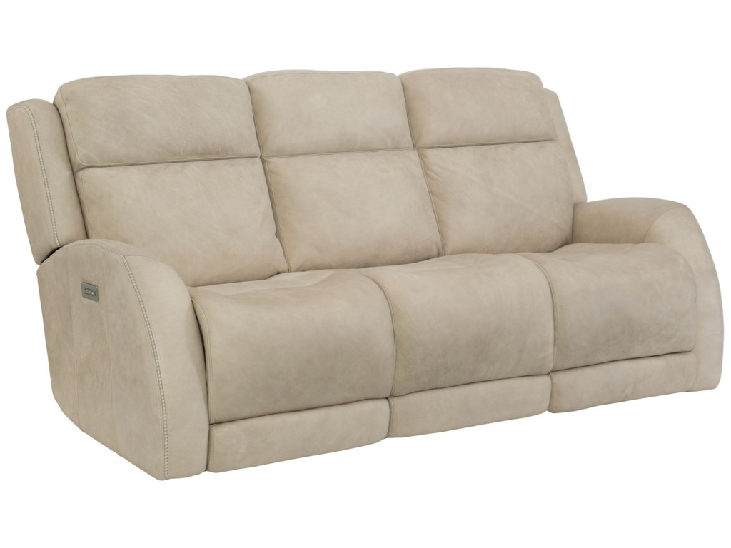 Bernhardt Rawlings Casual Reclining Sofa With Headrest Lumbar And Usb Charging Ports