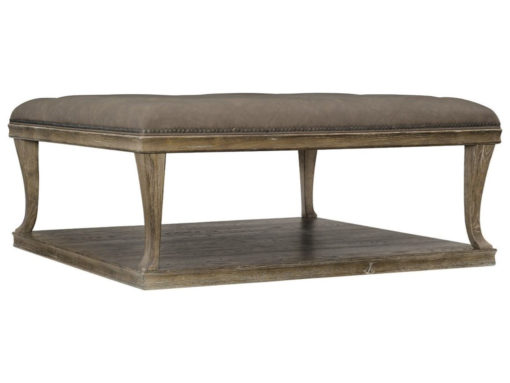 Bernhardt Rustic PatinaUpholstered Cocktail Table
