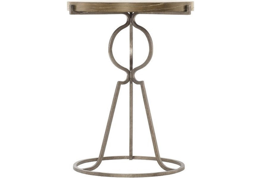 387 12 Rustic Round End Table