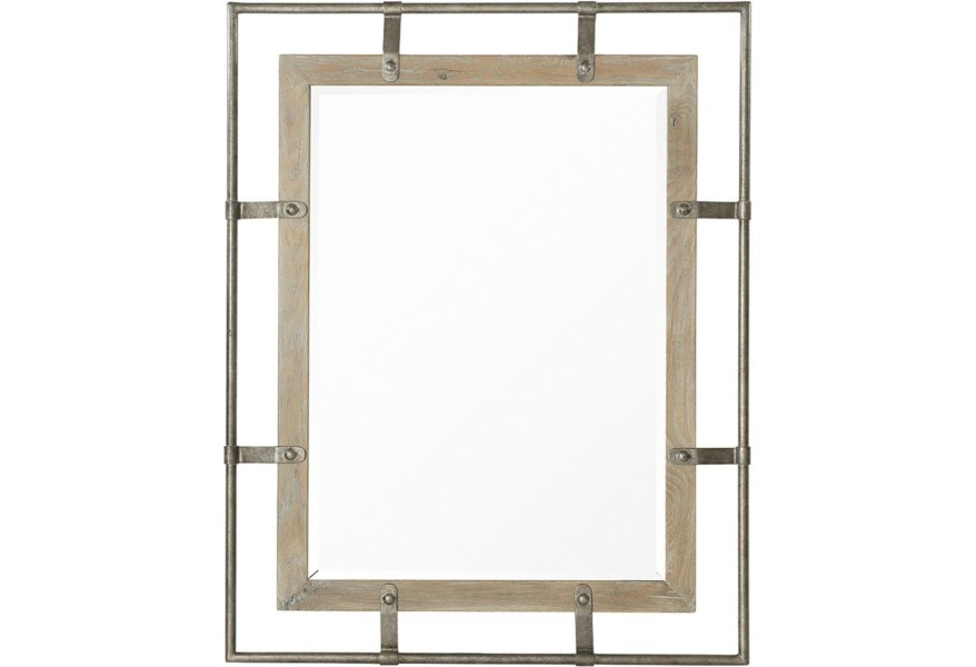 Bernhardt Rustic Patina Rustic Mirror Made With White Oak Solids Belfort Furniture Wall Mirrors