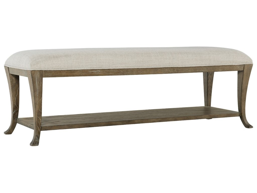 Bernhardt Rustic PatinaCustomizable Upholstered Bench