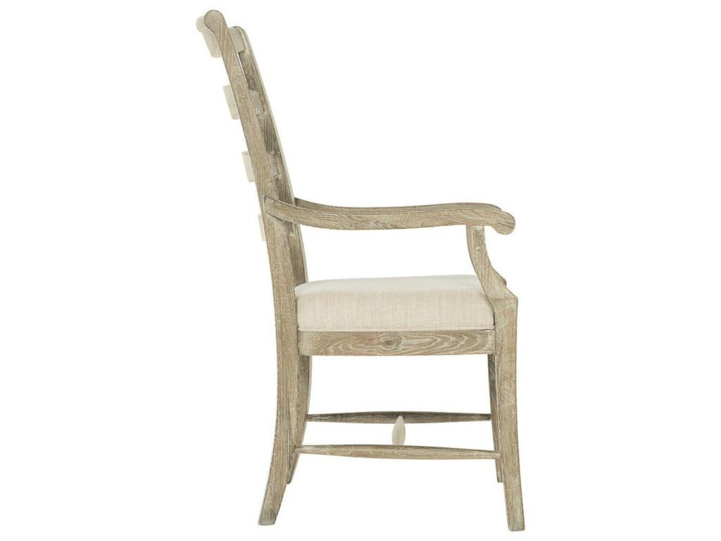 Bernhardt Rustic PatinaCustomizable Ladderback Arm Chair