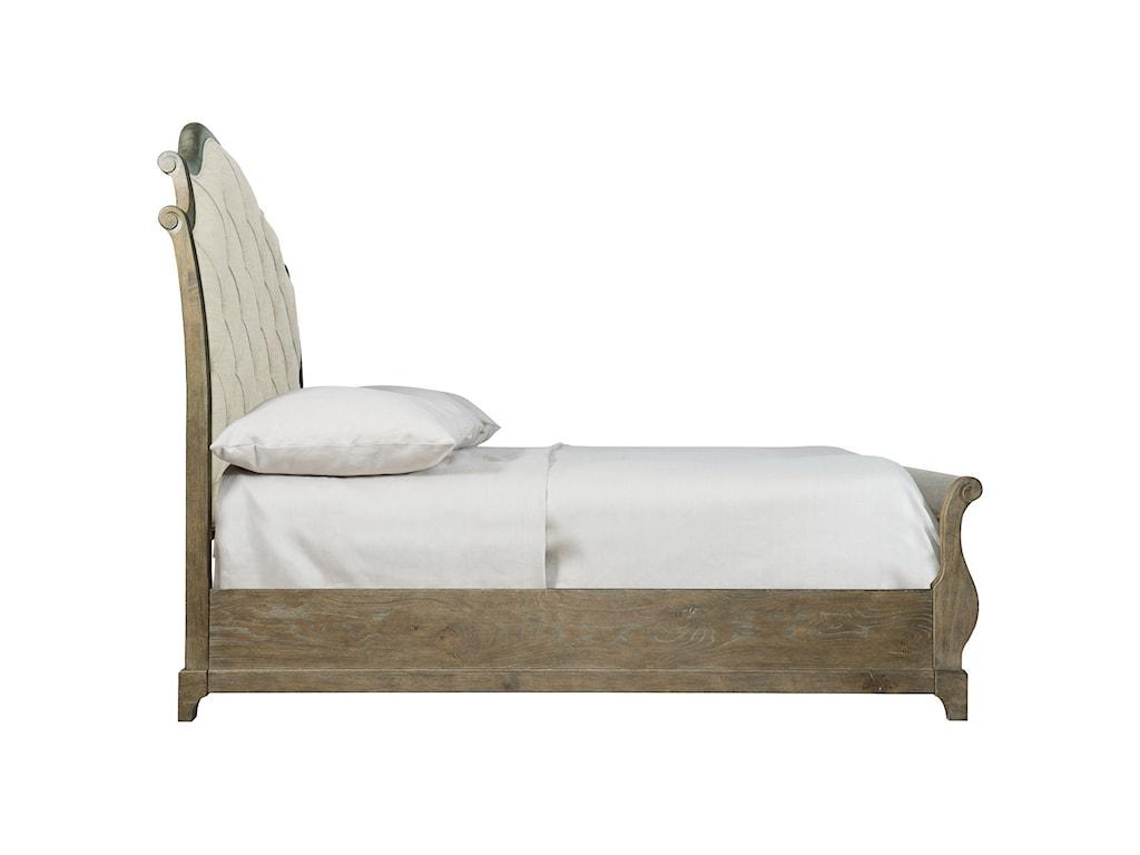 Bernhardt Rustic PatinaQueen Upholstered Bed
