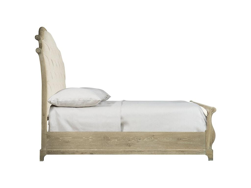Bernhardt Rustic PatinaCustomizable Queen Upholstered Bed