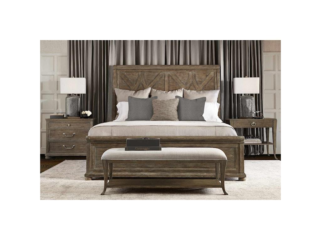 Bernhardt Rustic PatinaKing Bedroom Group