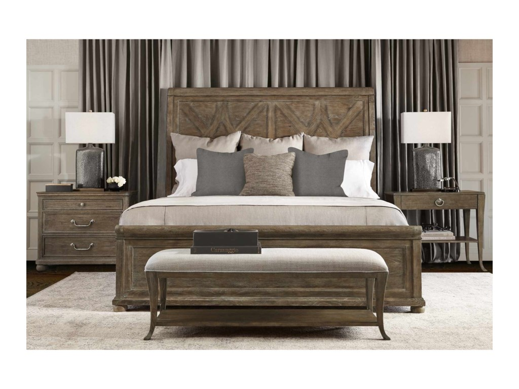 Bernhardt Rustic PatinaQueen Bedroom Group