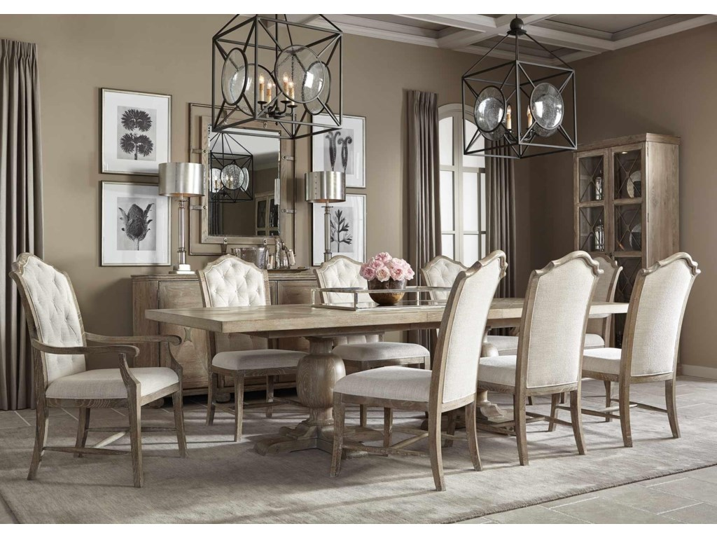 Bernhardt Rustic Patina 5 Piece Dining Set Includes Table And 4 Side