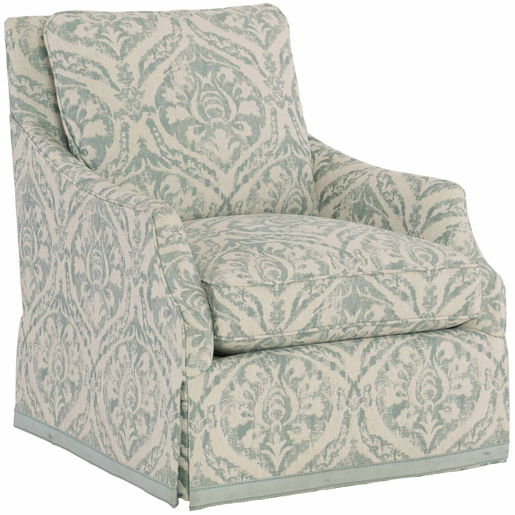 Delicieux Bernhardt Sabine Swivel Chair With Loose Back Cushion
