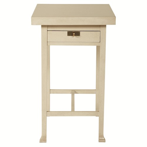 Bernhardt Salon Rectangular Chairside Table with Hinged Top
