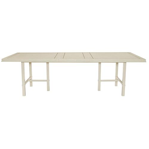 Bernhardt Salon Dining Table with Inlaid Metal Border