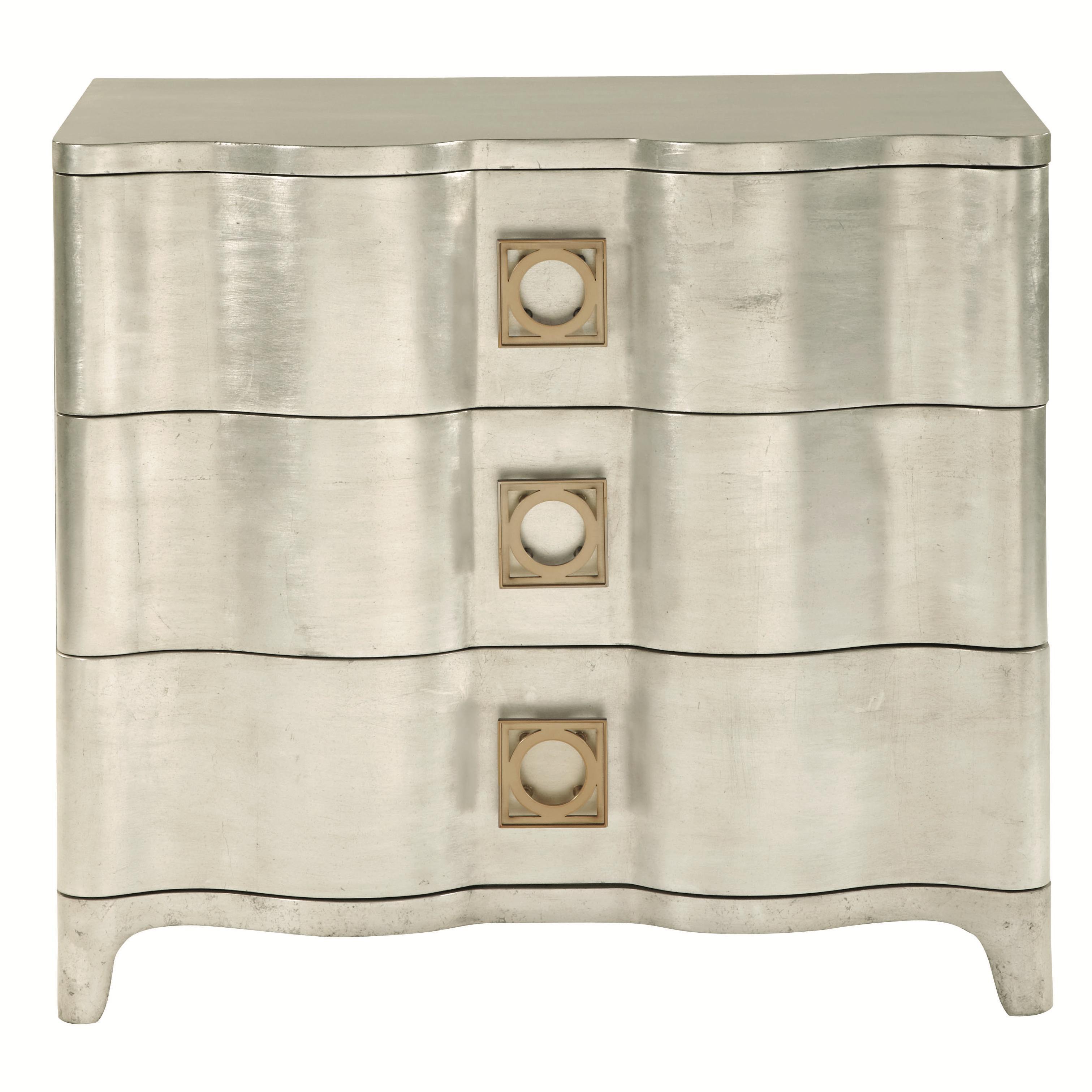 bernhardt salon 3 drawer nightstand with scalloped shaping baeru0027s furniture night stand