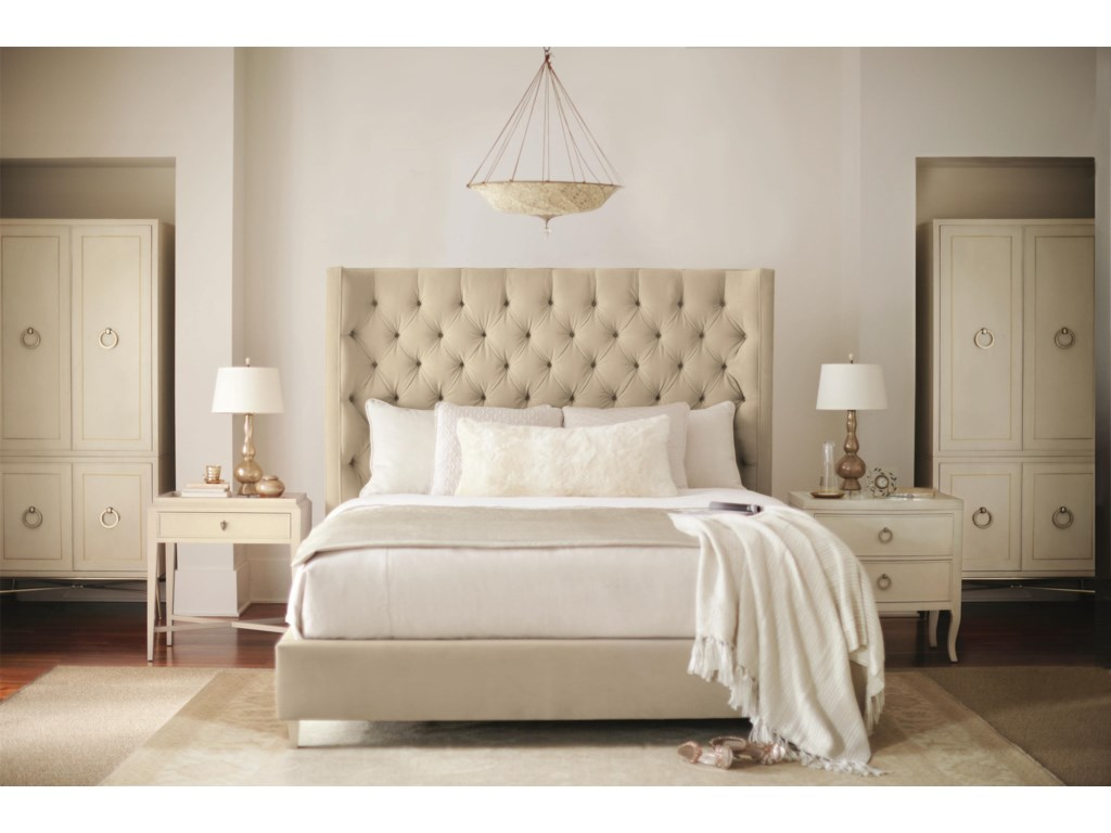 Shown with Upholstered Bed, Door Cabinets, and Nightstand