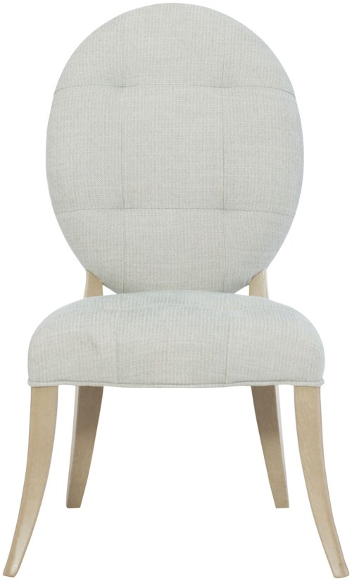 Bernhardt Savoy Place Upholstered Side Chair with Tufting