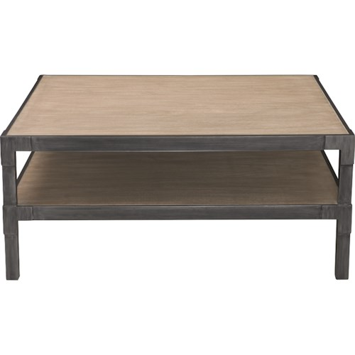 Bernhardt Saxton Square Cocktail Table with Shelf
