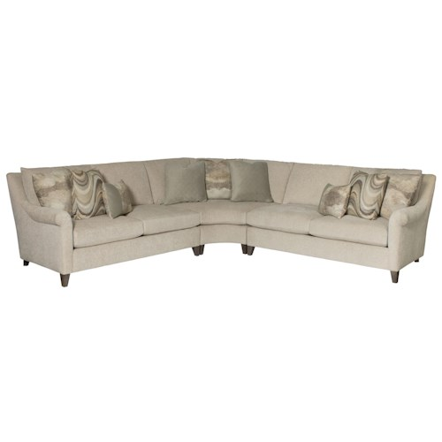 Bernhardt Sherman 5 Seat Sectional Sofa Design Interiors