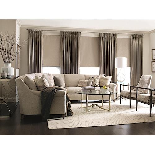 Bernhardt Sherman 5 Seat Sectional Sofa Stuckey Furniture