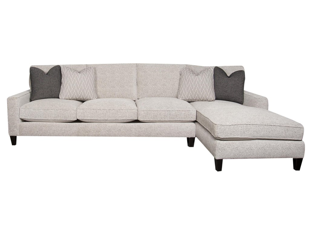 Bernhardt Signature Sectional Sofa Chaise with Accent Pillows ...