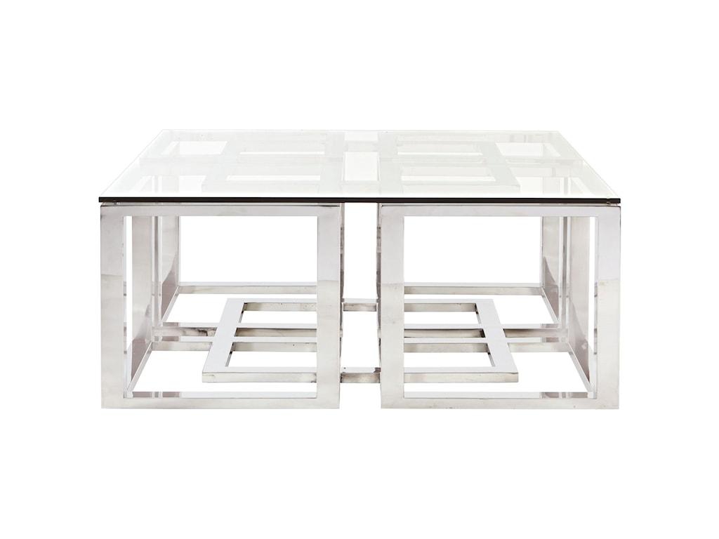 Bernhardt Soho LuxeModern Metal Cocktail Table