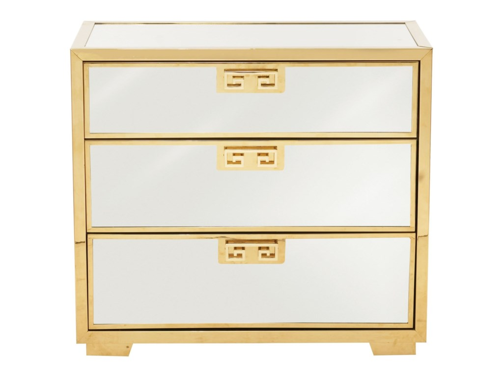 Bernhardt Soho LuxeModern 3-Drawer Mirror Nightstand