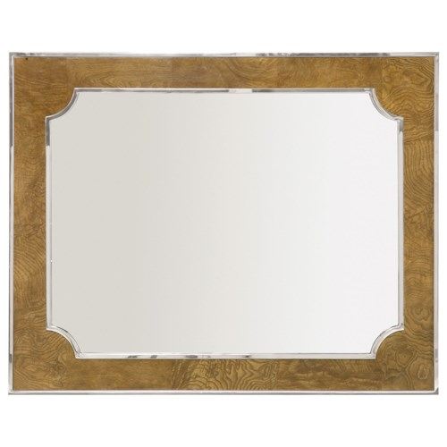 Bernhardt Soho Luxe Transitional Mirror with Stainless Steel Inlay