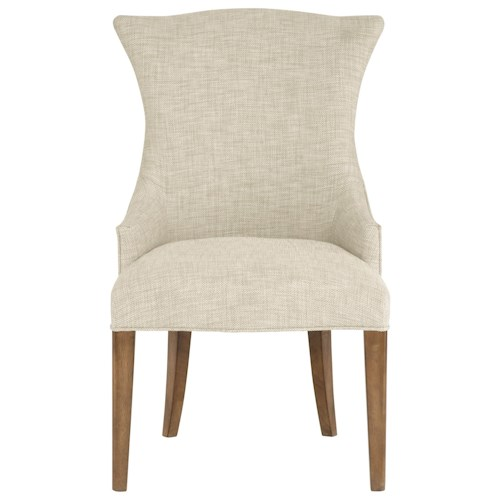 Bernhardt Soho Luxe Transitional Upholstered Arm Chair with Nailhead Trim