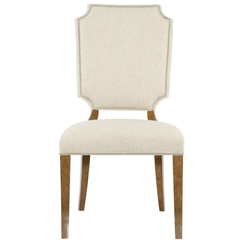 Bernhardt Soho Luxe Traditional Side Chair with Nailhead Trim