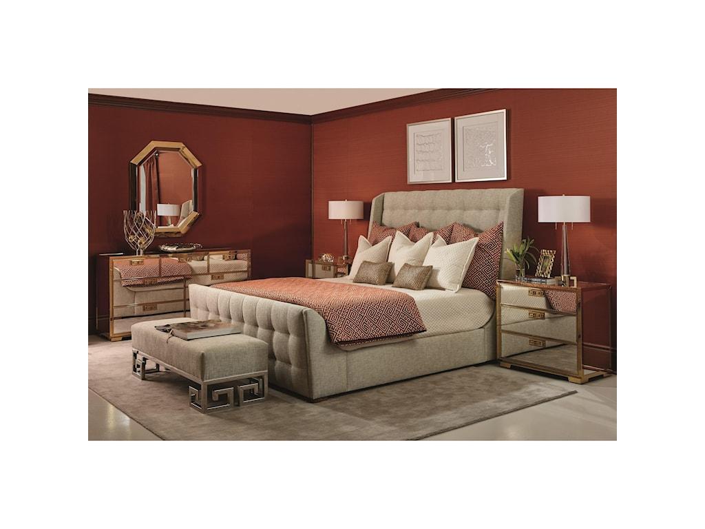 Bernhardt Soho LuxeCal King Upholstered Sleigh Bed