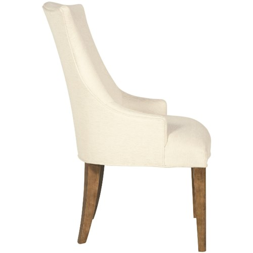 Bernhardt Soho Luxe Transitional Upholstered Arm Chair with Wingback Design