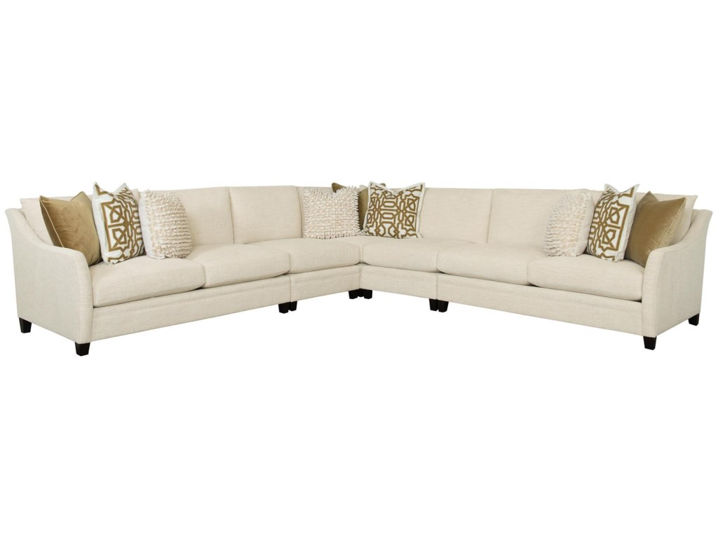 Sorenson B30 4 Piece Sectional by Bernhardt at Dunk & Bright Furniture