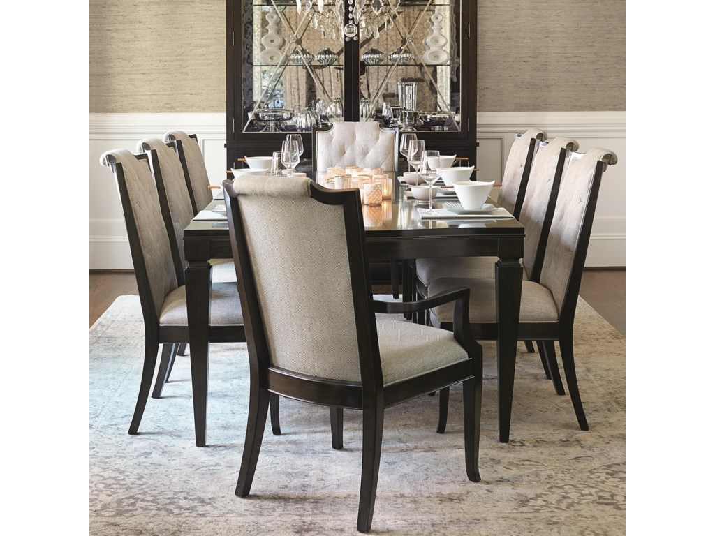 Sutton House 9 Piece Dining Set With Upholstered Chairs By Bernhardt