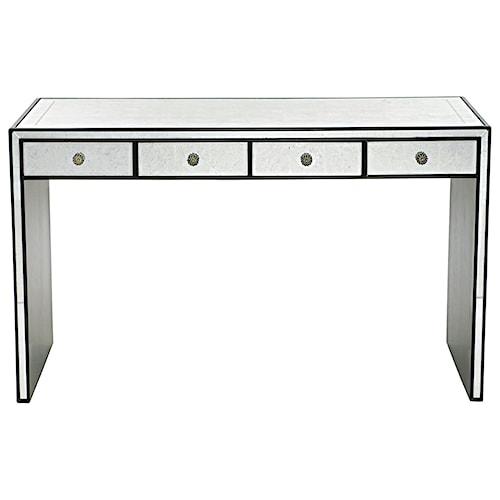 Bernhardt Sutton House Desk with Silver Eglomise Surfaces