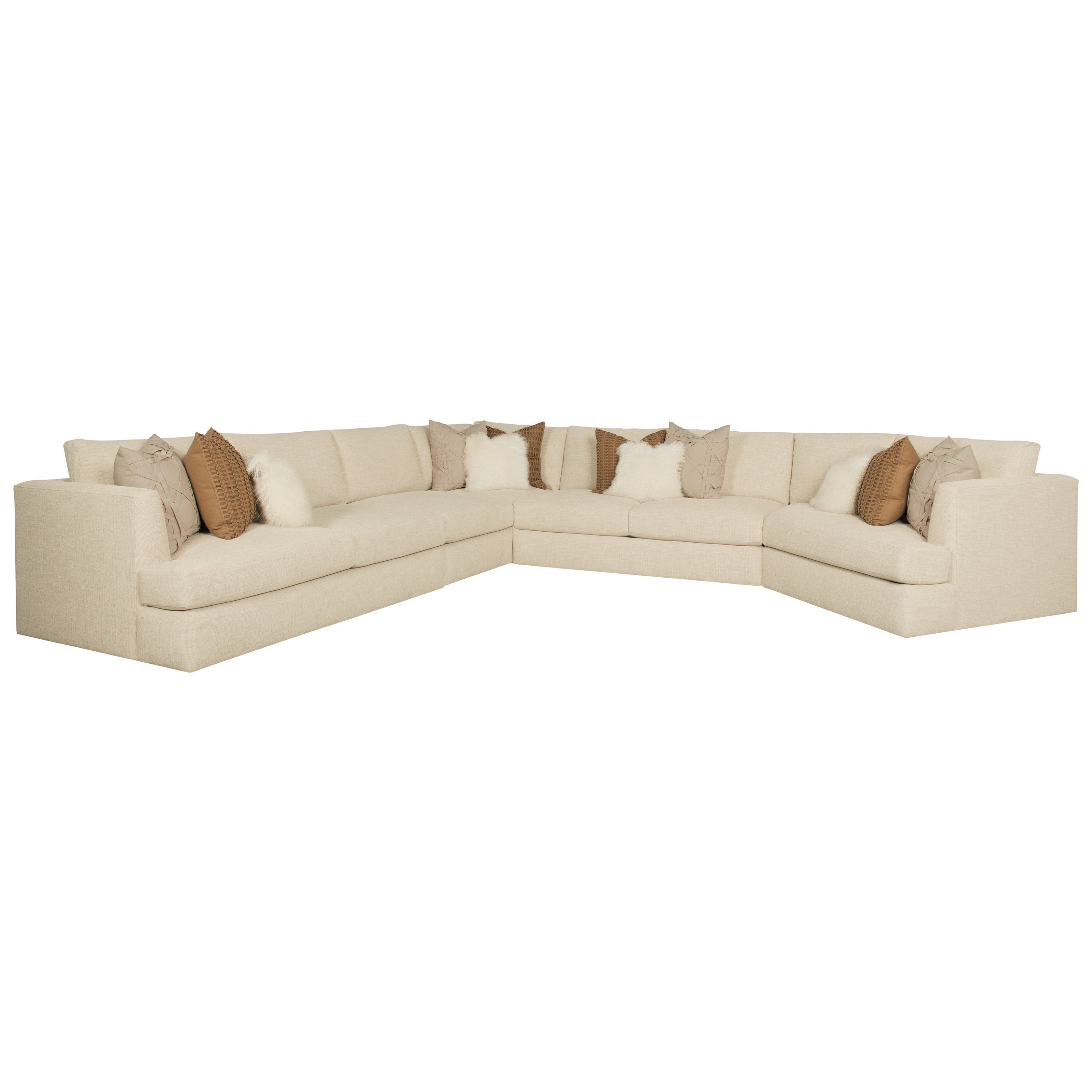 Bernhardt Sydney Seven Seat Sectional Sofa   Adcock Furniture   Sectional  Sofas