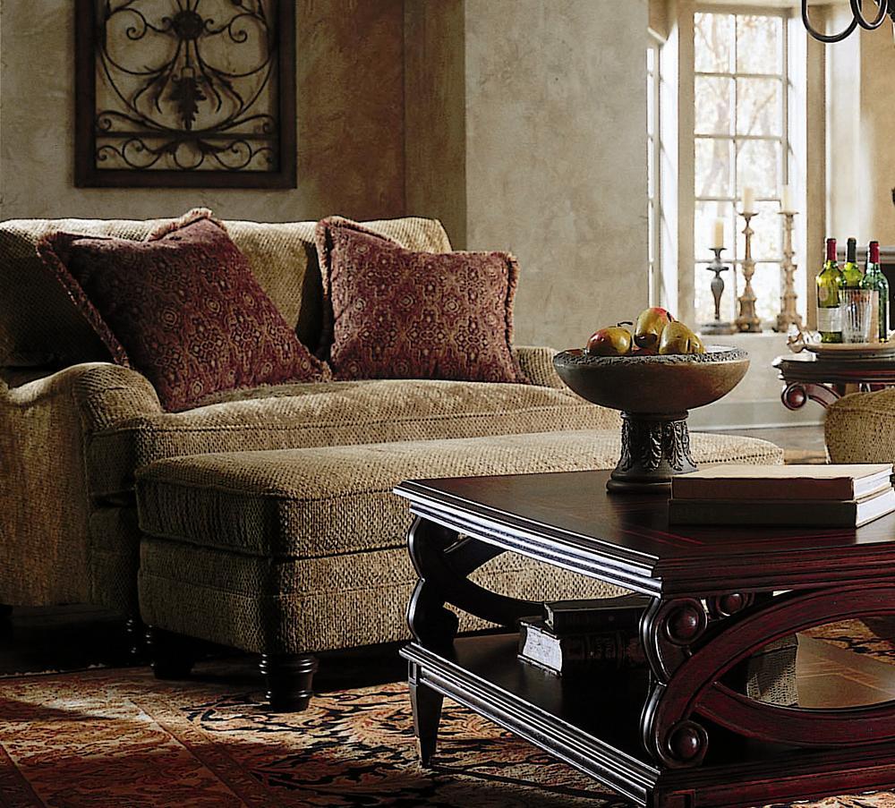 Merveilleux Bernhardt Tarleton Chair And A Half And Ottoman