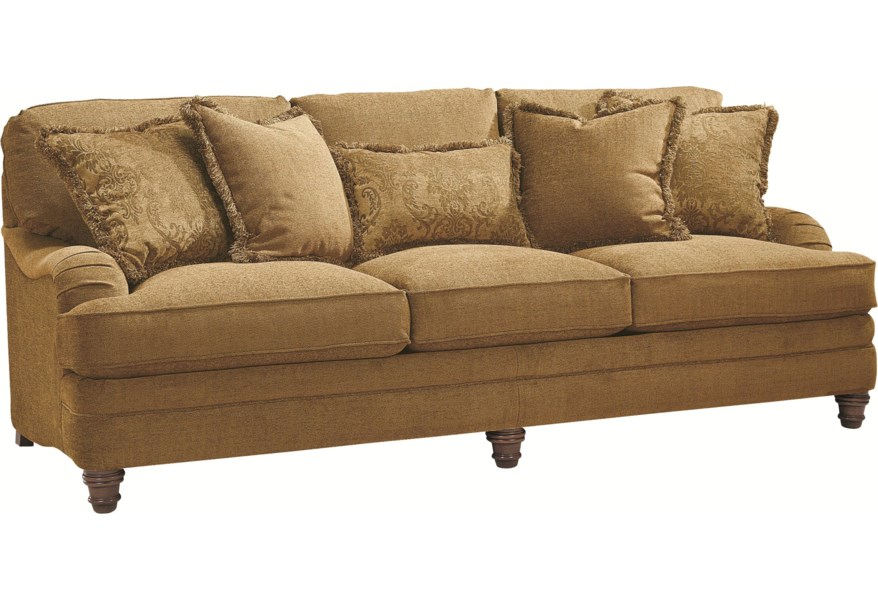 Stupendous Bernhardt Tarleton Traditional Styled Stationary Sofa Caraccident5 Cool Chair Designs And Ideas Caraccident5Info