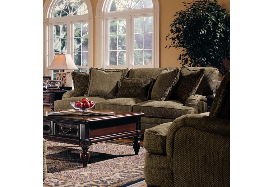 Fine Bernhardt Tarleton Traditional Styled Stationary Sofa Caraccident5 Cool Chair Designs And Ideas Caraccident5Info