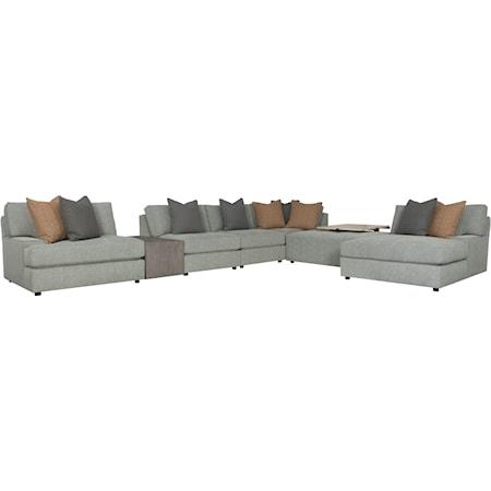 4-Seat Modular Sectional Sofa