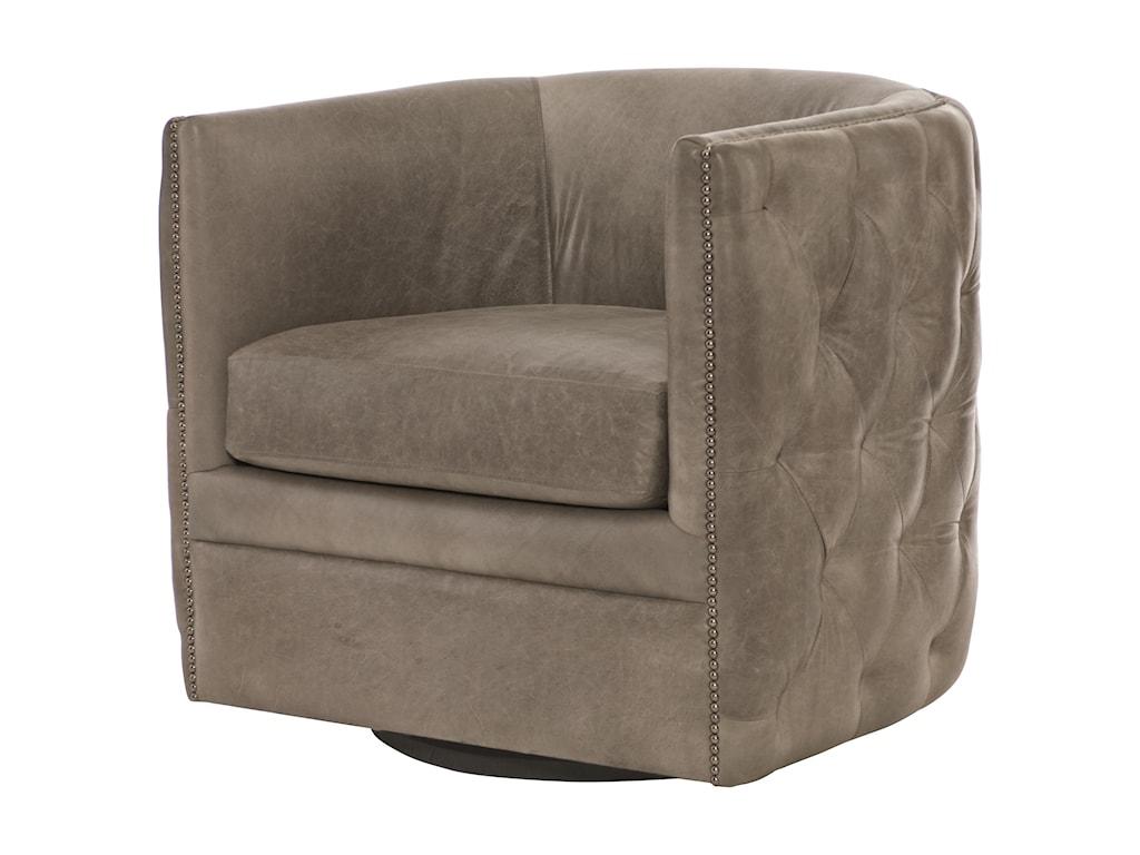 Bernhardt Upholstered Accents Palazzo Swivel Chair | Sprintz ...