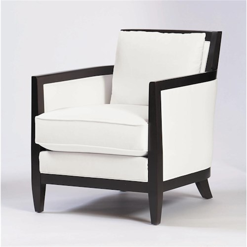 Bernhardt Upholstered Accents Ian Chair w/ Tapered Legs