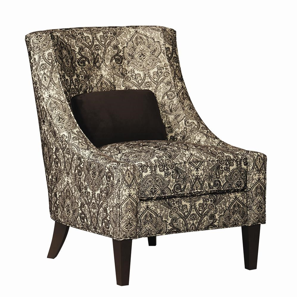 bernhardt upholstered accents audrey chair w/ tapered legs