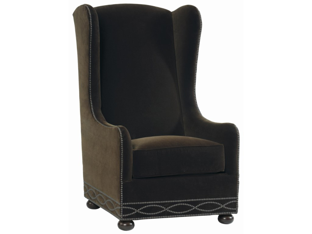 Wing chair bernhardt - Bernhardt Upholstered Accents Blaine Wing Chair With High Back And Bun Feet Baer S Furniture Wing Chairs