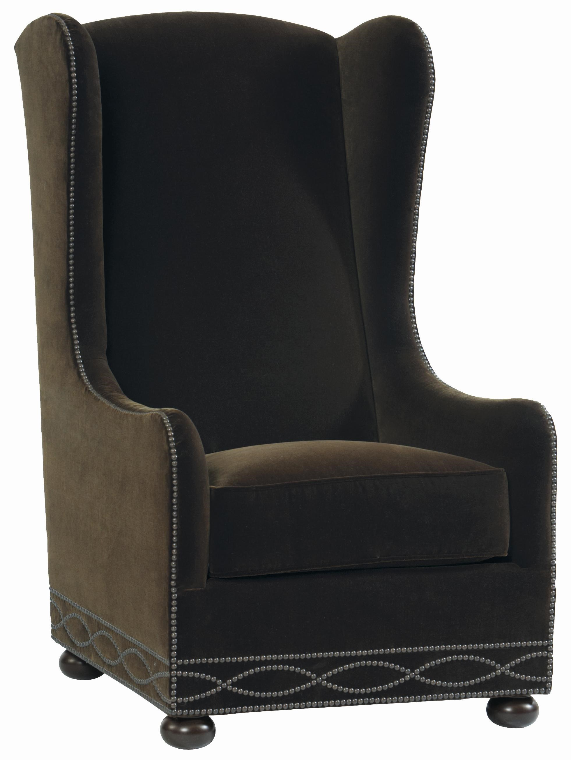 Bernhardt Upholstered Accents Blaine Wing Chair With High Back And Bun Feet    Baeru0027s Furniture   Wing Chairs