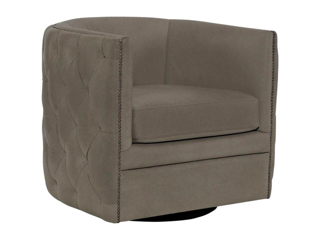 Bernhardt Upholstered Accents B2122S Palazzo Swivel Chair ...